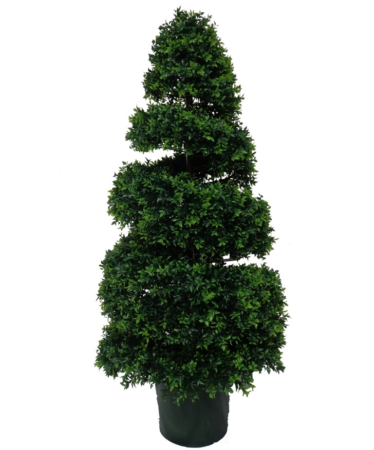 Artificial UV Resistant Boxwood Spiral Topiary - 130CM
