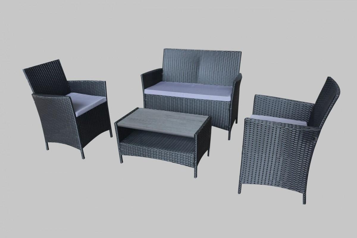 Ravello 4 Piece Rattan Sofa Set - Polywood Table Furniture