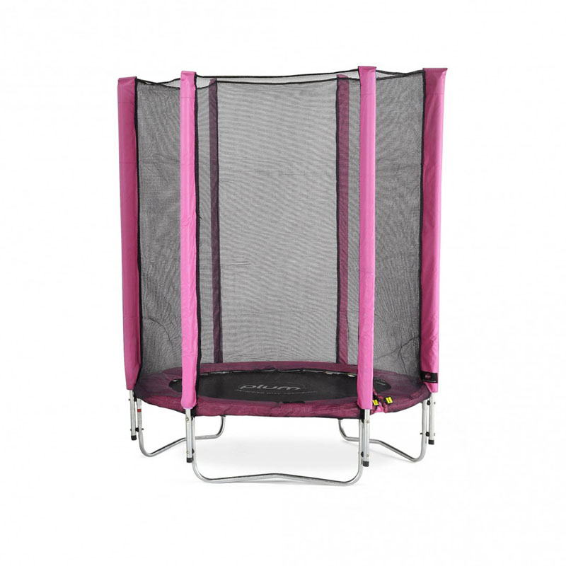 Plum Junior Trampoline and Enclosure - Pink