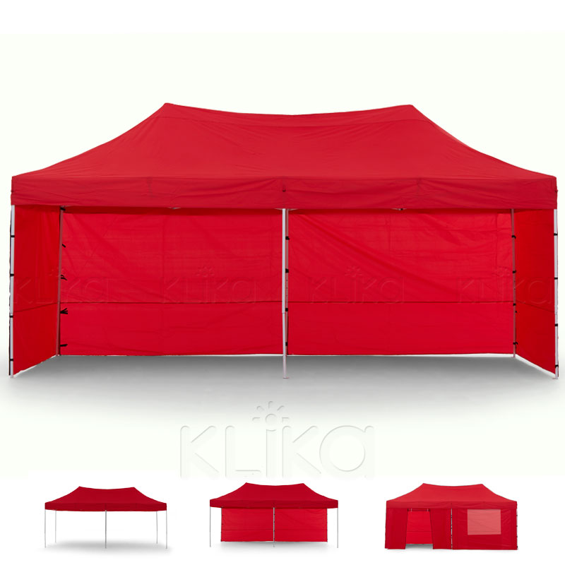 Wallaroo 3x6 Marquee - PopUp Gazebo - Red