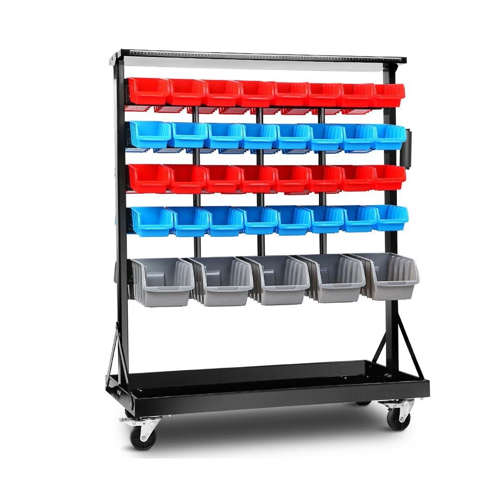 GIANTZ 74-Bin Dual-Sided Storage Rack Stand