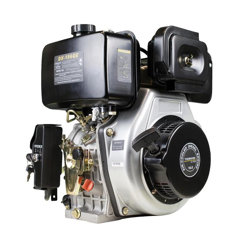 Diesel 456cc Electric Start Stationary Motor 12HP Engine - 25.4mm Q Shaft