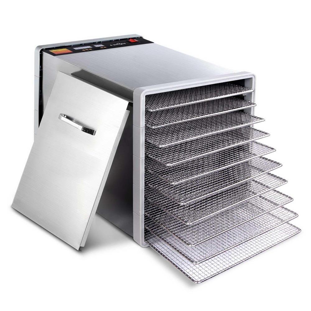 Stainless Steel Food Dehydrator - 10 Trays