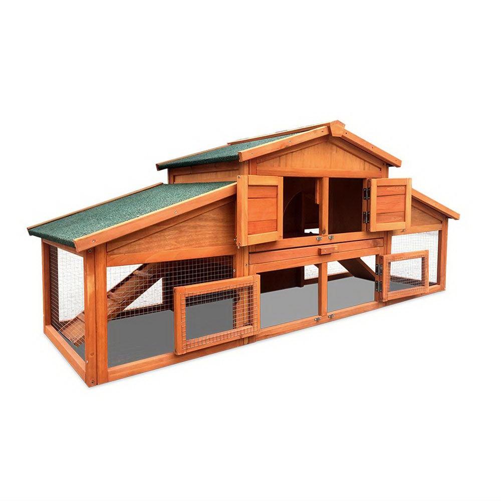Chicken Coop Rabbit Hutch Hen Cage House