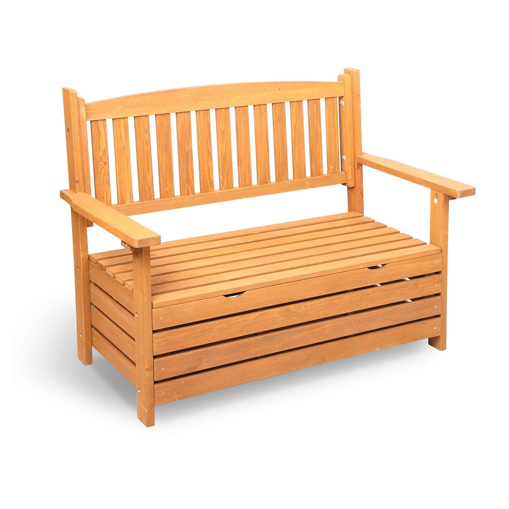 wooden outdoor storage bench. Black Bedroom Furniture Sets. Home Design Ideas