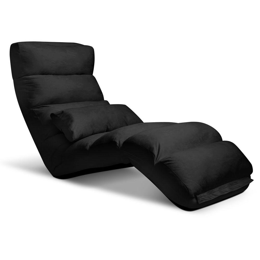 Lounge Sofa Chair - 75 Adjustable Angles - Black