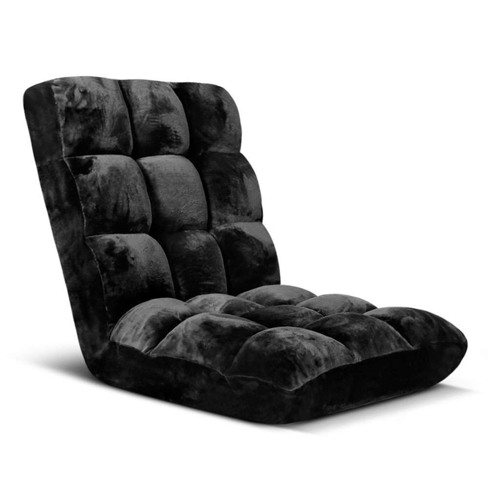 Adjustable Lounge Chair Sofa - Black