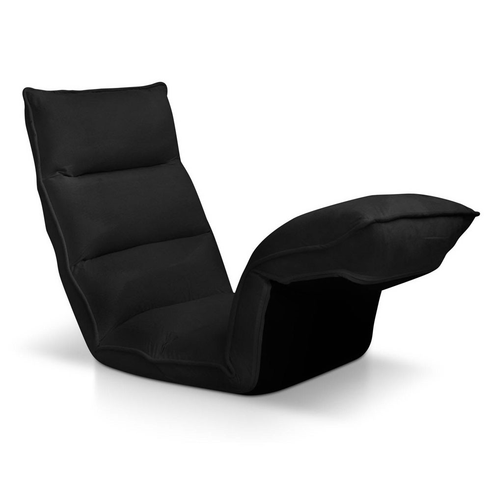 4 Adjustable Section Floor Lounge Chair - Black
