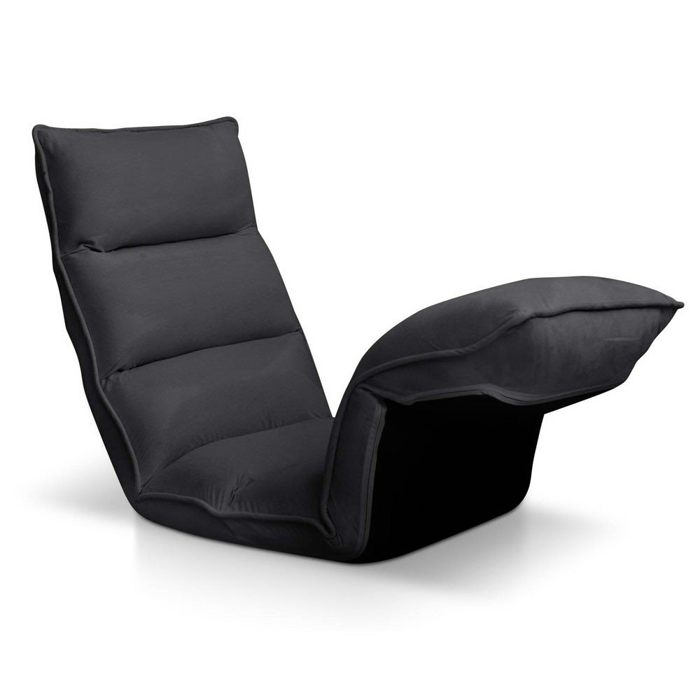 4 Adjustable Section Floor Lounge Chair - Charcoal