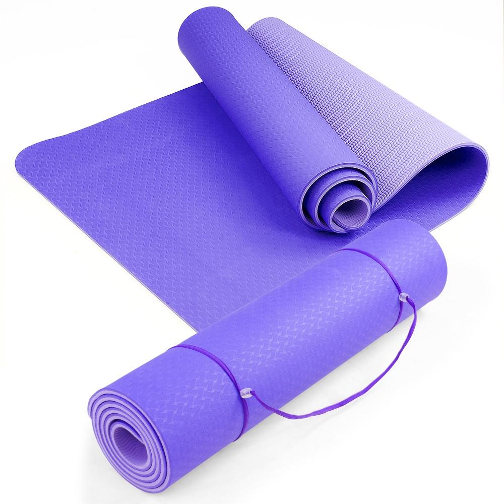 Powertrain Eco Friendly TPE Yoga Exercise Mat - Light Purple