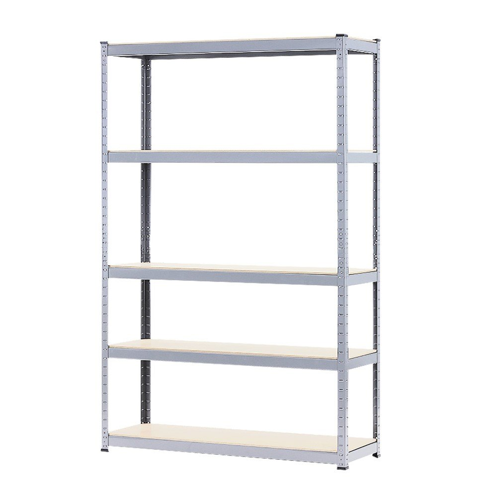 5 Shelf Storage Rack Galvanized Steel 180x120cm Wire