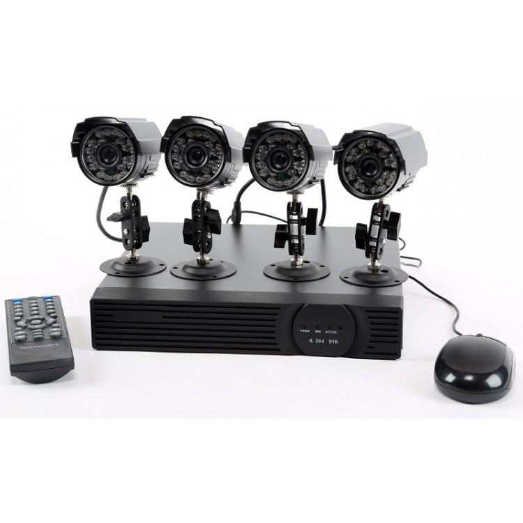 Home Security Camera UTMARK Surveillance Quad System 600TVL