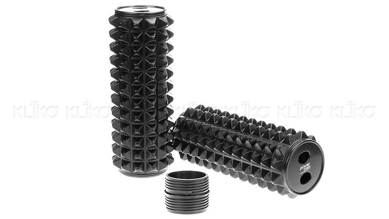 Acupressure Grid Foam Massage Roller black