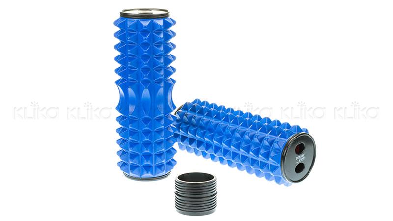 Acupressure Grid Foam Massage Roller blue