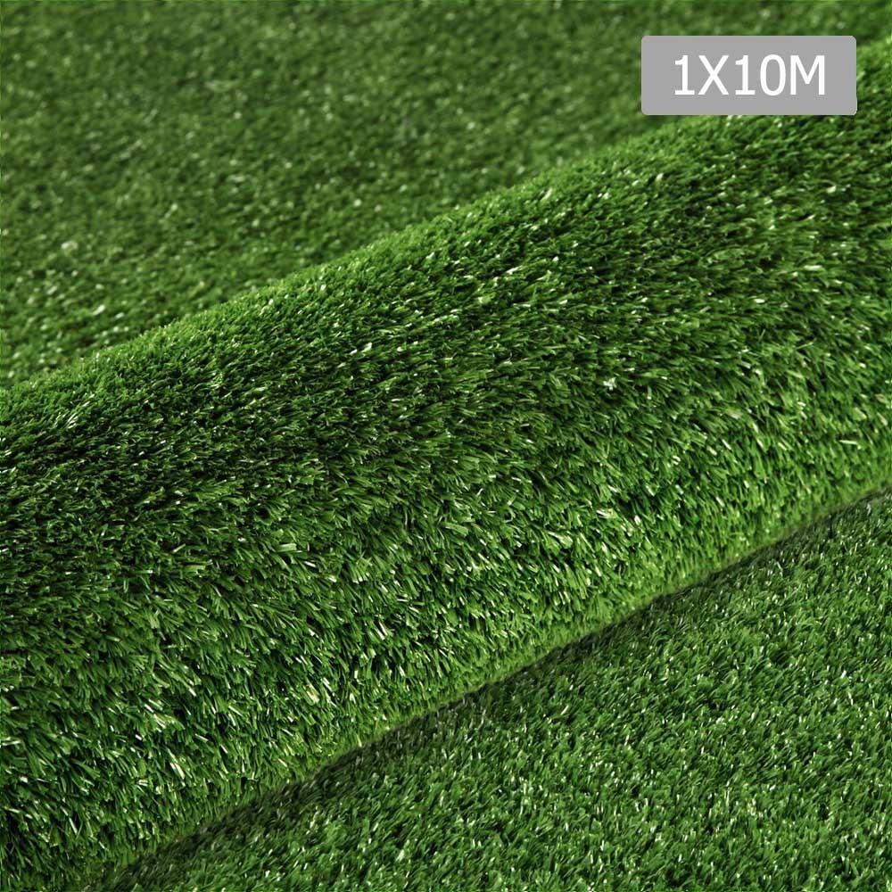 Artificial Grass 10 SQM Polypropylene Lawn Flooring 1X10M Olive Green