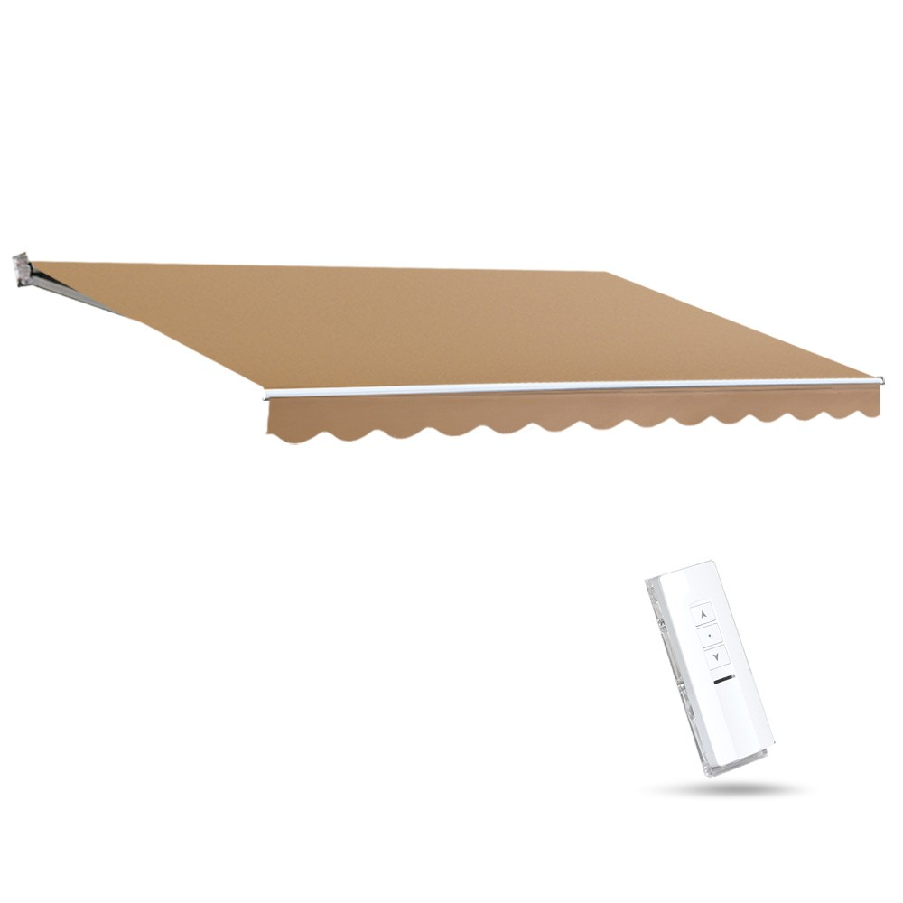 Instahut Motorised 4x3m Folding Arm Awning - Beige