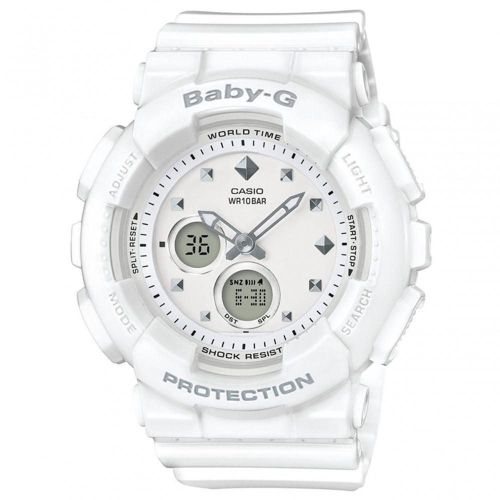 Casio Baby-G Ladies White Analogue/Digital Watch BA-125-7ACR