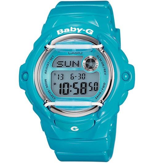 Casio Baby-G Digital Female Blue Watch BG-169R-2B BG-169R-2BDR