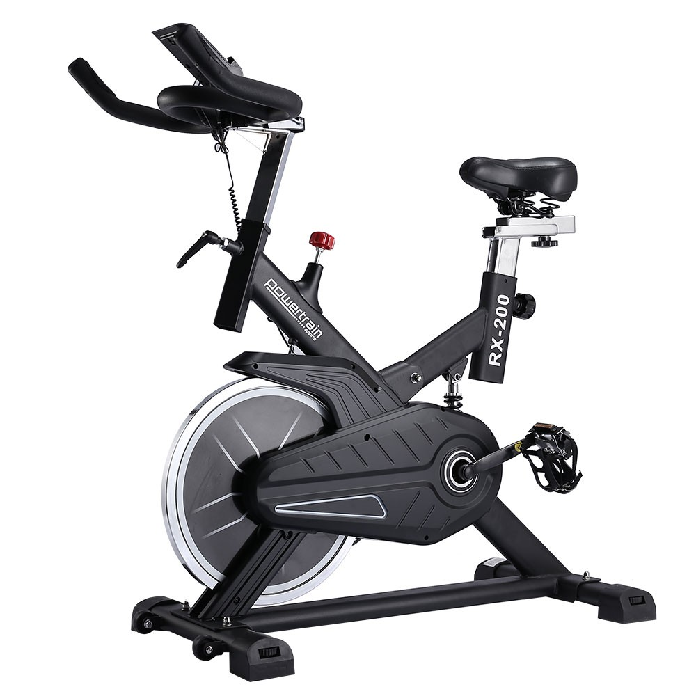 Powertrain RX-200 Exercise Spin Bike Cardio Cycle - Black