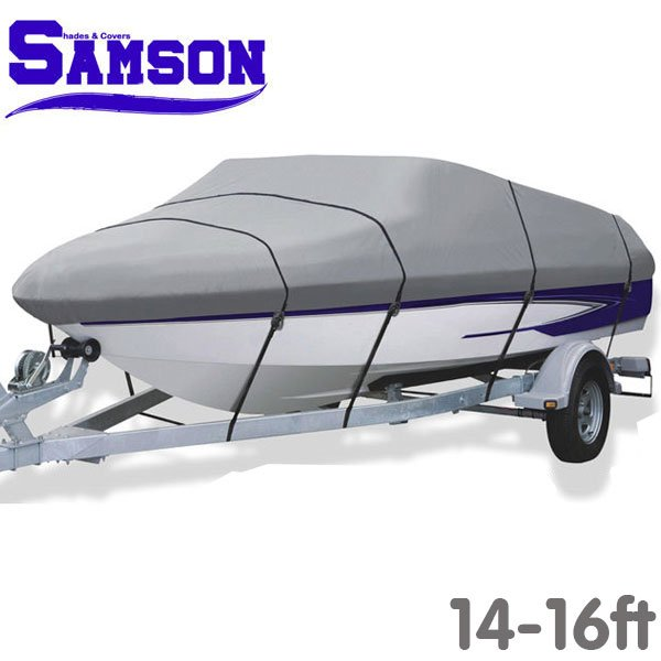 14-16 ft Samson Heavy Duty Trailerable Boat Cover - Grey