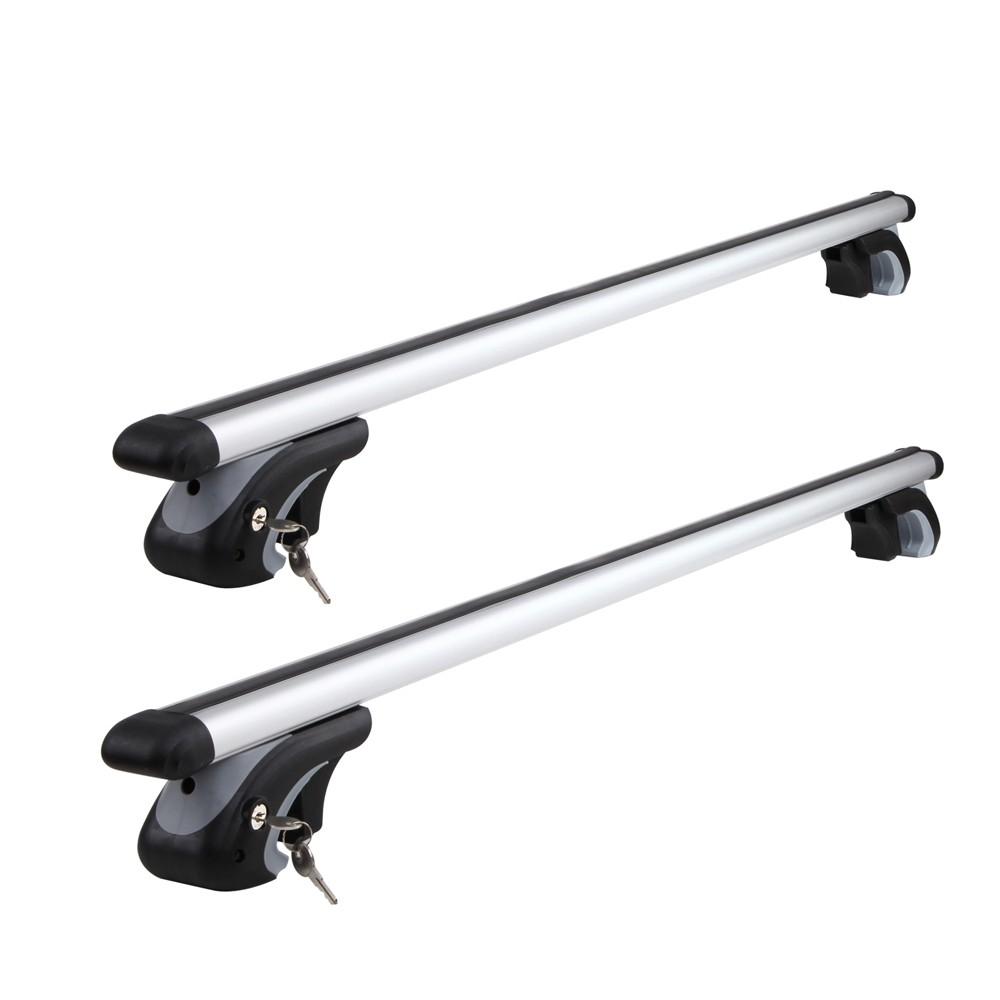 1200mm Universal Aluminium Lockable Roof Rack Cross Bars - Silver