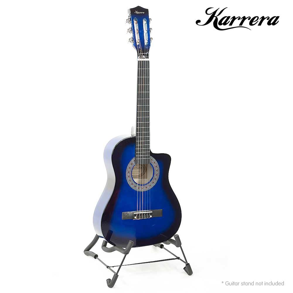 karrera childrens acoustic guitar blue childrens guitars. Black Bedroom Furniture Sets. Home Design Ideas