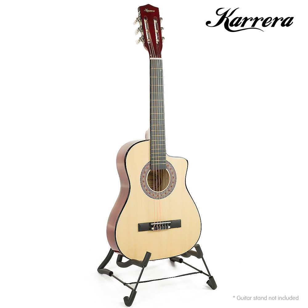 karrera childrens acoustic guitar natural childrens guitars. Black Bedroom Furniture Sets. Home Design Ideas