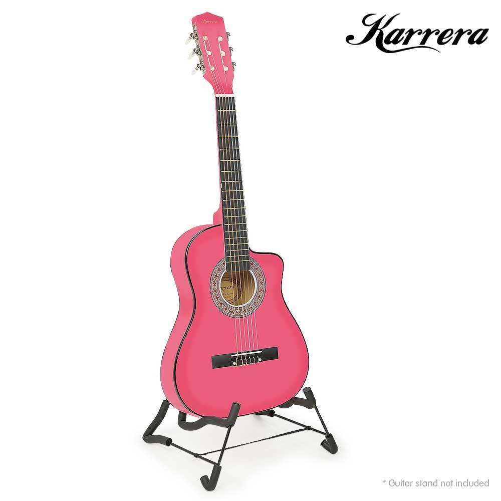 karrera childrens acoustic guitar pink. Black Bedroom Furniture Sets. Home Design Ideas