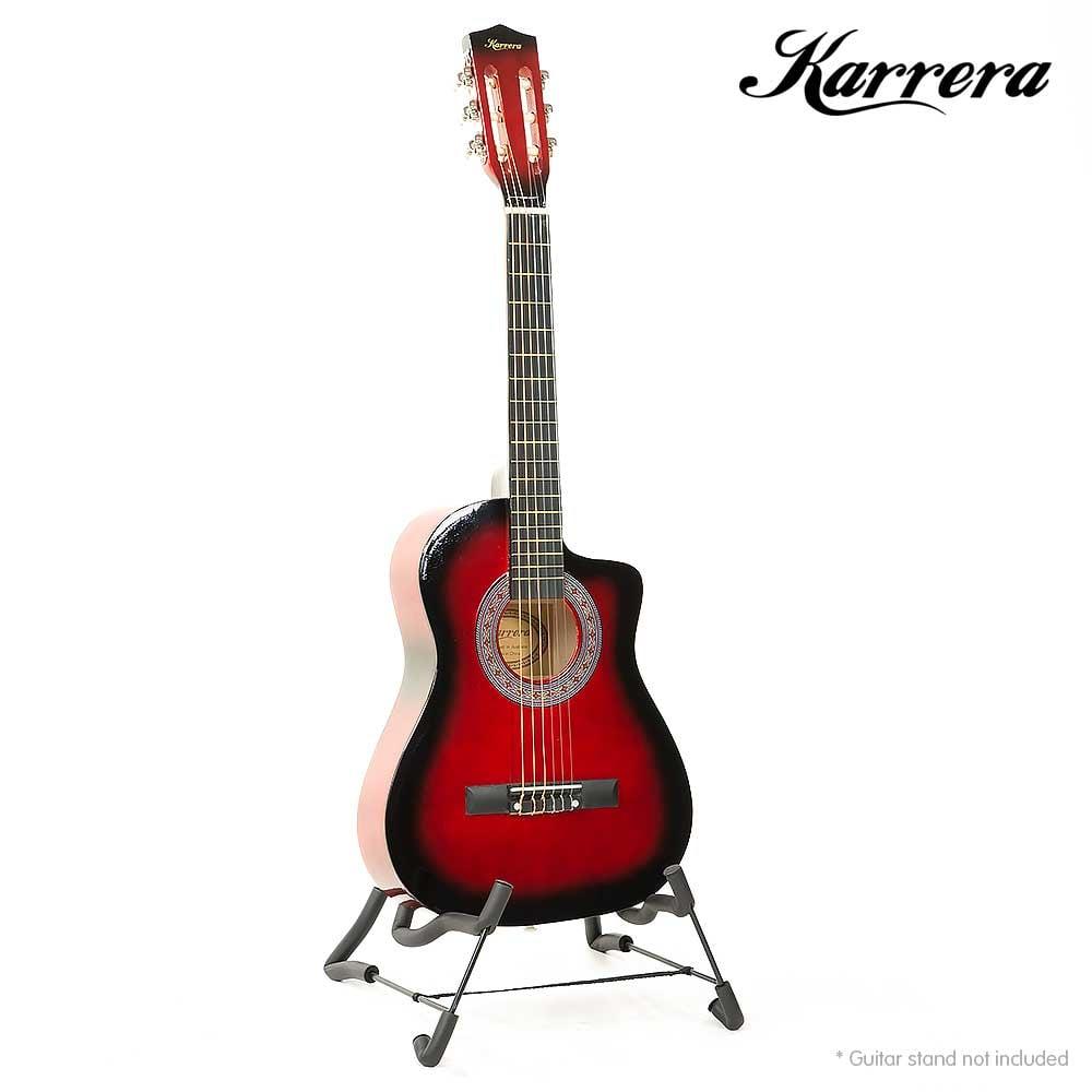 karrera childrens acoustic guitar red childrens guitars. Black Bedroom Furniture Sets. Home Design Ideas