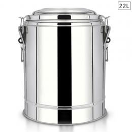 22L Stainless Steel Insulated Stock Pot Dispenser Hot & Cold Container