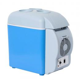 SOGA 7.5L Car Small Refrigerator Cooler Box 12V Mini Fridge Blue
