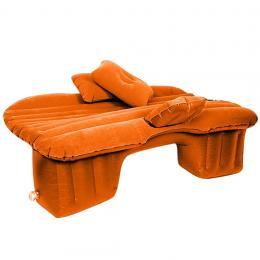 SOGA Inflatable Car Mattress Portable Travel Camping Air Bed Orange