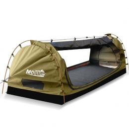 Mountview King Single Swag Camping Swags Canvas Dome Tent Navy