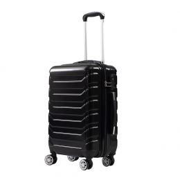 3 Pcs ABS PC Luggage Set Black