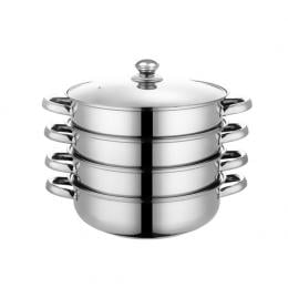 4 Tier Stainless Steel Steamer Meat Vegetable Cooking Steam Hot Pot