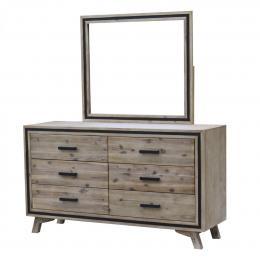 Seashore Vintage Style 6 Drawer Dresser