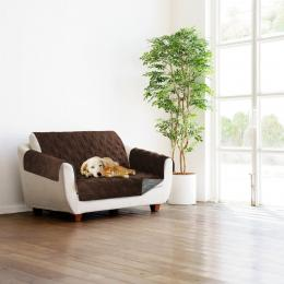 Sprint Industries Slipcover Sofa  Protector - Chocolate  Charcoal