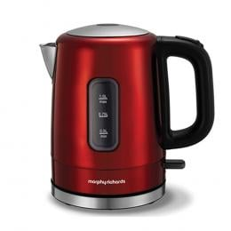Morphy Richards 1L Accents Stainless Steel Kettle Red