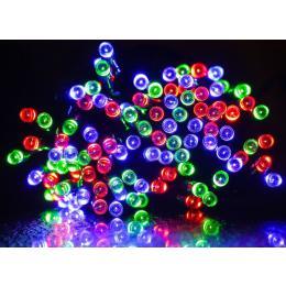 100 LED Indoor Outdoor Waterproof Solar Fairy String Lights - RGB
