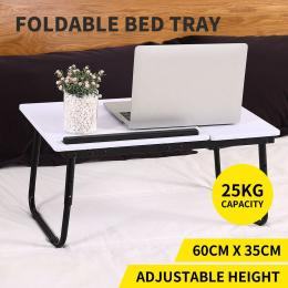 Laptop Stand Desk Lap Bed Table Tray White
