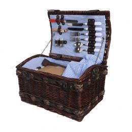 Picnic Basket Set 2 Person Willow Baskets Deluxe Travel Camping