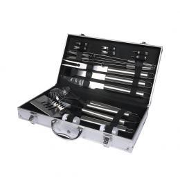 18Pcs Stainless Steel BBQ Tool Set Outdoor Barbecue Utensil Aluminium