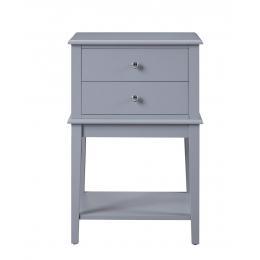 Chloe 2 Drawer Side Table - Grey