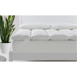 Royal Comfort Duck Feather and Down Mattress Topper  - King - White