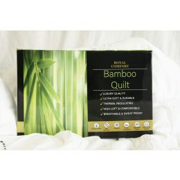 Royal Comfort Bamboo Quilt 350GSM Luxury  - King - White