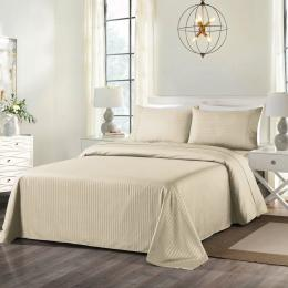 Royal Comfort Cooling Bamboo Blend Sheet Set Striped  - Double
