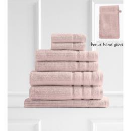 Royal Comfort Eden Egyptian Cotton 600GSM 8 Piece Towels Set - Blush