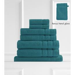 Royal Comfort Eden Egyptian Cotton 600GSM 8 Piece Towels  - Turquoise