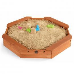 Plum Octagonal Wooden Sand Pit