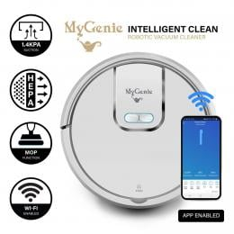 MyGenie WI-FI GMAX Robotic Vacuum Cleaner Mop App Control Dry  - White